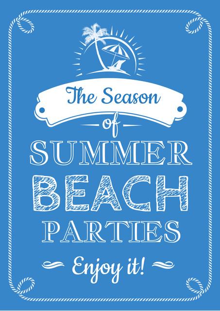 Modèle de visuel Summer beach parties Annoucement - Poster