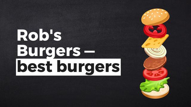 Designvorlage Putting together cheeseburger layers für Full HD video