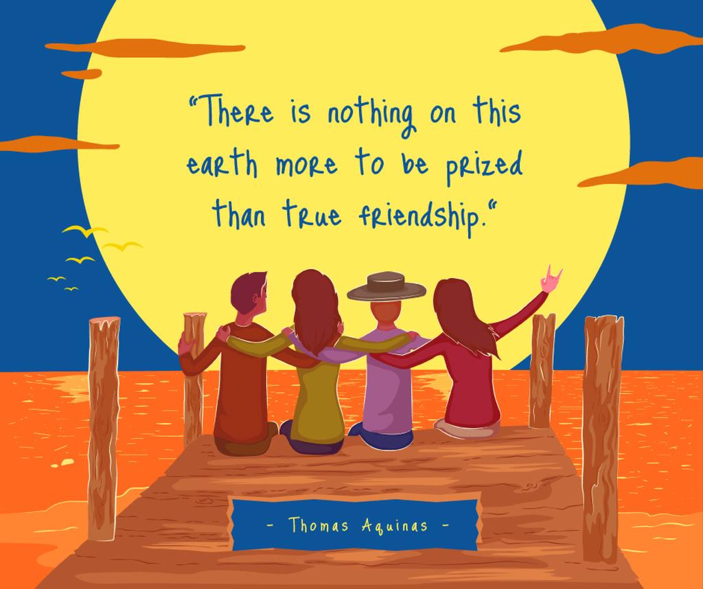 Friends sitting on a pier — Crear un diseño