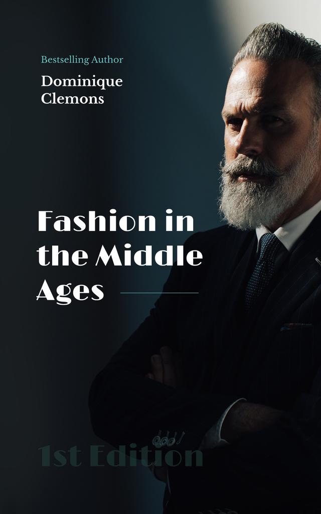 Male Fashion Stylish Bearded Man Book Cover – шаблон для дизайна