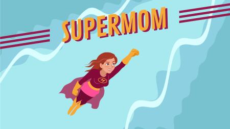 Plantilla de diseño de Superwoman Flying in the Sky Full HD video