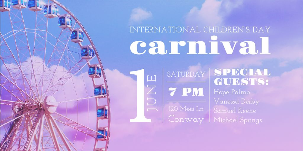 Carnival in International Children's Day  — Створити дизайн