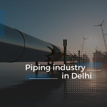 Piping industry with Pipe in water