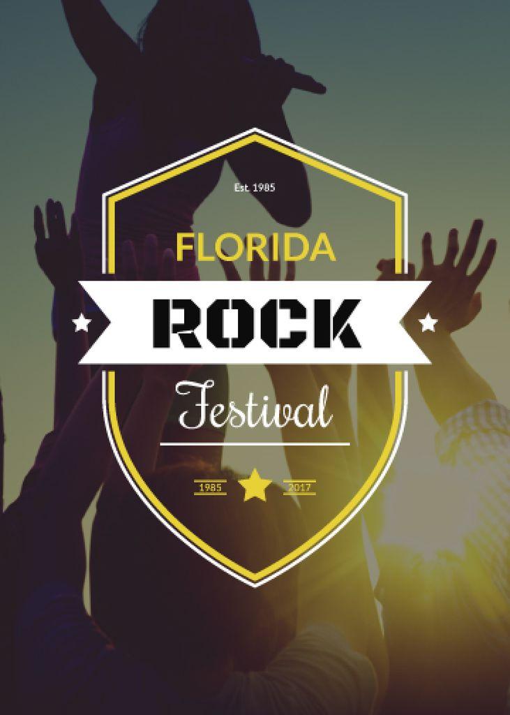 Florida rock festival poster — Crear un diseño