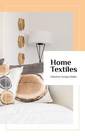 Plantilla de diseño de Home Textiles Cozy Interior in Light Colors Book Cover