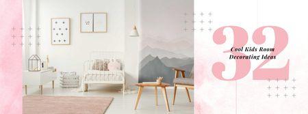 Plantilla de diseño de Cozy nursery Interior in pink Facebook cover