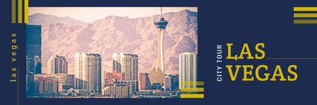 Plantilla de diseño de Las Vegas city buildings  Twitter