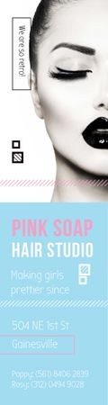 Template di design Pink Soap Hair Studio Skyscraper