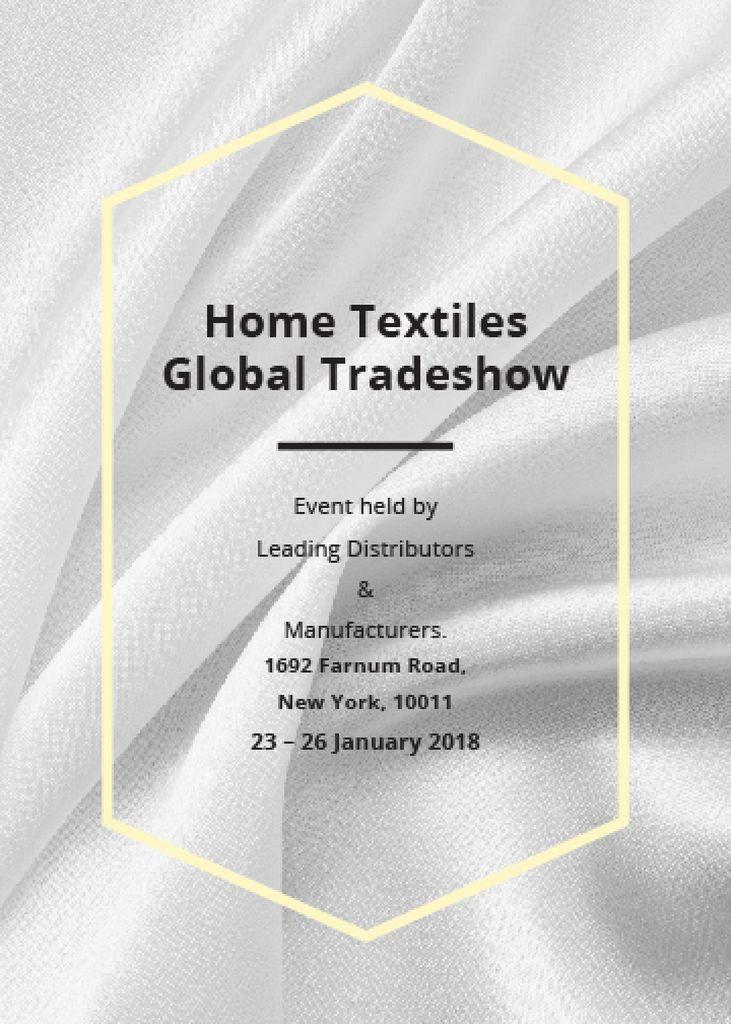 Home Textiles event announcement White Silk — Modelo de projeto
