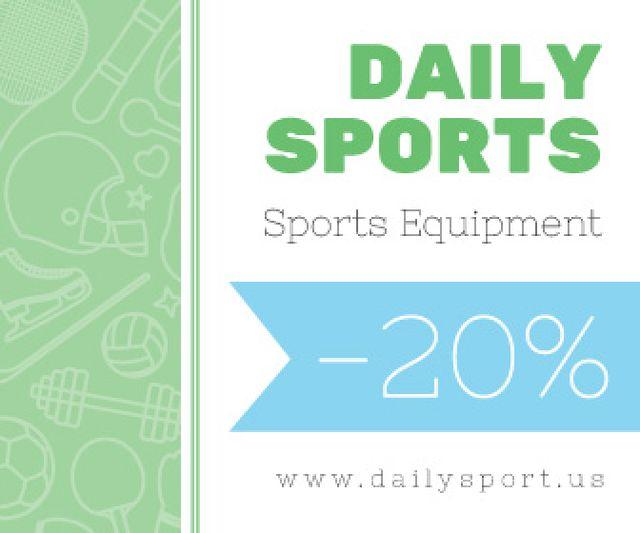 Sports equipment sale advertisement Large Rectangle Modelo de Design