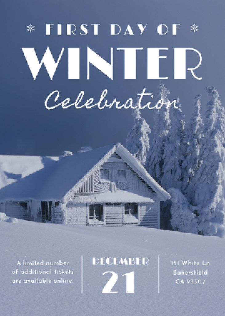 Advertisement poster of first day of winter celebration  — Créer un visuel