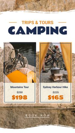 Camping Tour on Bikes Offer Instagram Story Modelo de Design