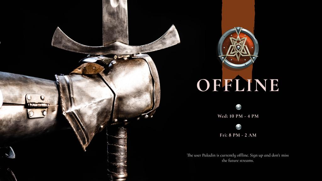 Warrior holding iron Sword — Maak een ontwerp