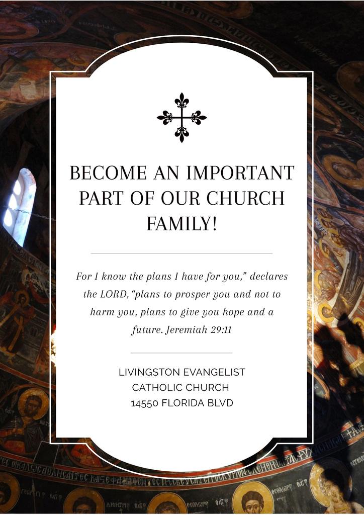 Evangelist Catholic Church — Maak een ontwerp