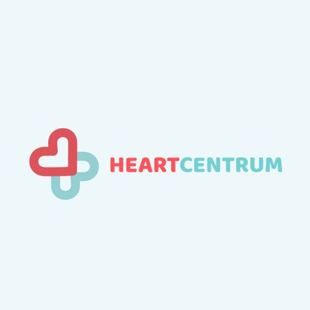 Template di design Charity Medical Center with Hearts in Cross Animated Logo