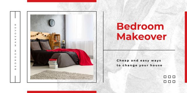 Cozy bedroom interior  Image Design Template