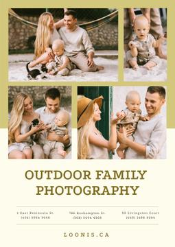Photo Session Offer with Happy Family with Baby