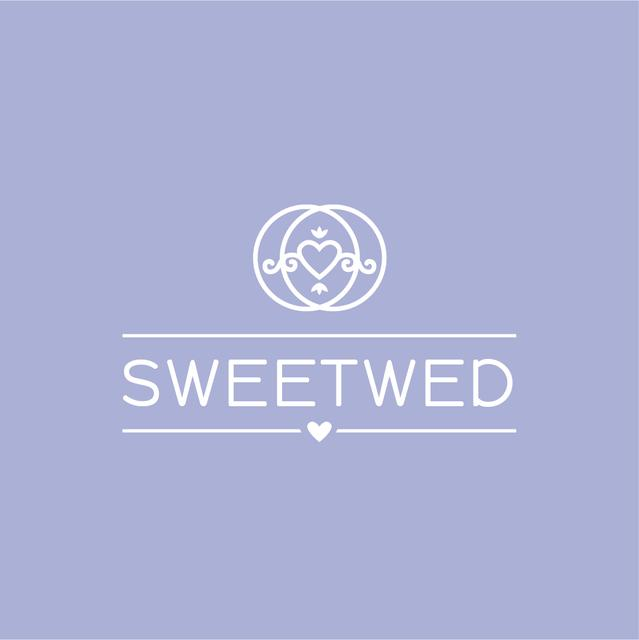 Wedding Agency Ad with Heart in Rings Logo – шаблон для дизайну