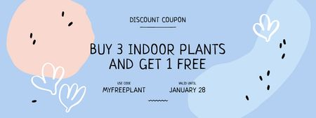 Offer on Indoors Plants with Сactus Drawings Coupon Modelo de Design