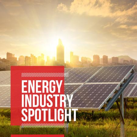 Energy industry spotlight with City View Instagram Modelo de Design
