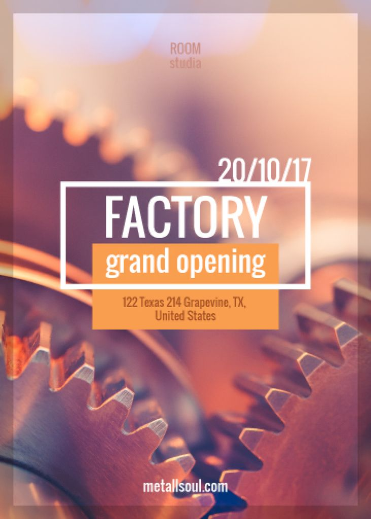 Factory grand opening poster — Create a Design