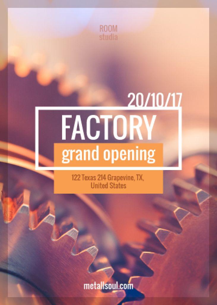 Factory Opening Announcement Mechanism Cogwheels — Crea un design