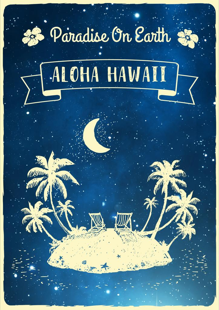 Aloha Hawaii poster — ein Design erstellen