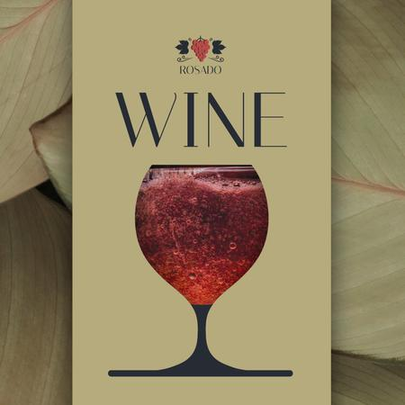 Template di design Red Wine Pouring in Glass Animated Post