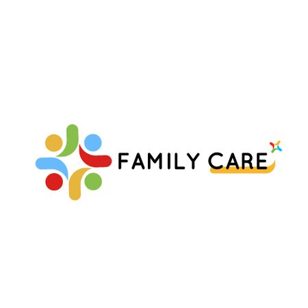 Template di design Family Care Concept with People in Circle Animated Logo