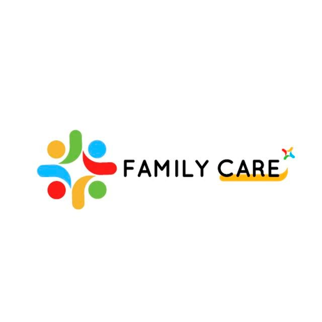 Family Care Concept with People in Circle Animated Logo Tasarım Şablonu
