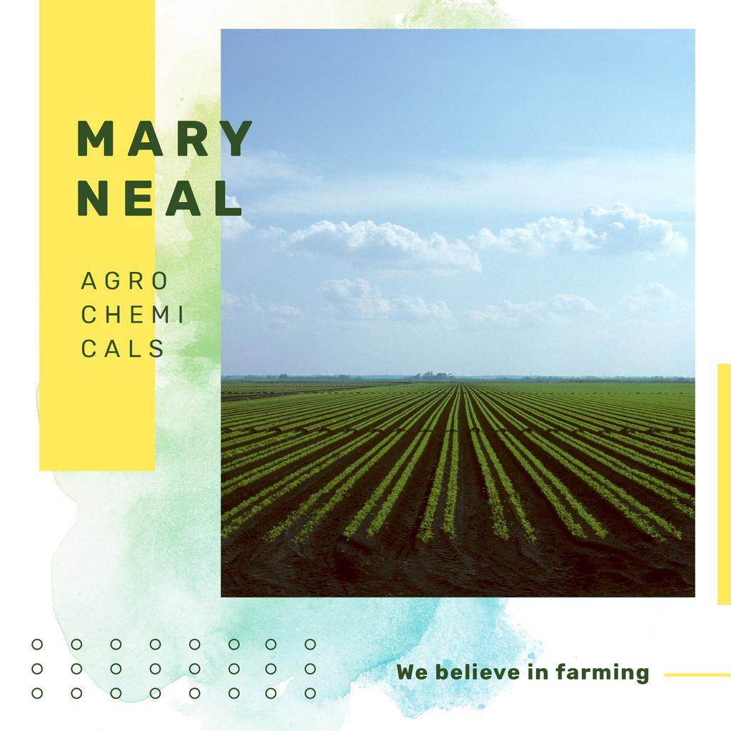 Agrochemicals Ad Green Farmland Landscape — Créer un visuel