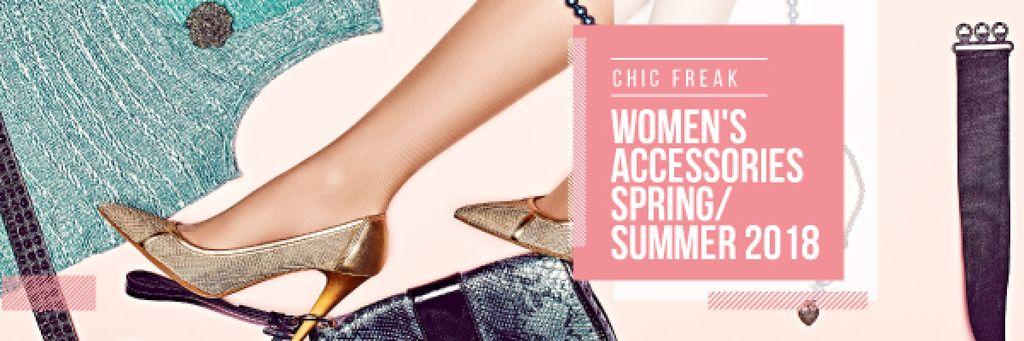 Womans legs in Stylish Shoes — Создать дизайн