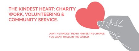 Ontwerpsjabloon van Facebook cover van The Kindest Heart Charity Work