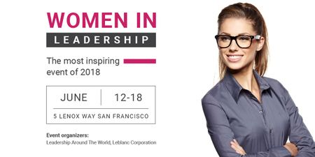 Women in Leadership event Image Modelo de Design
