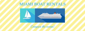 Boat rentals advertisement
