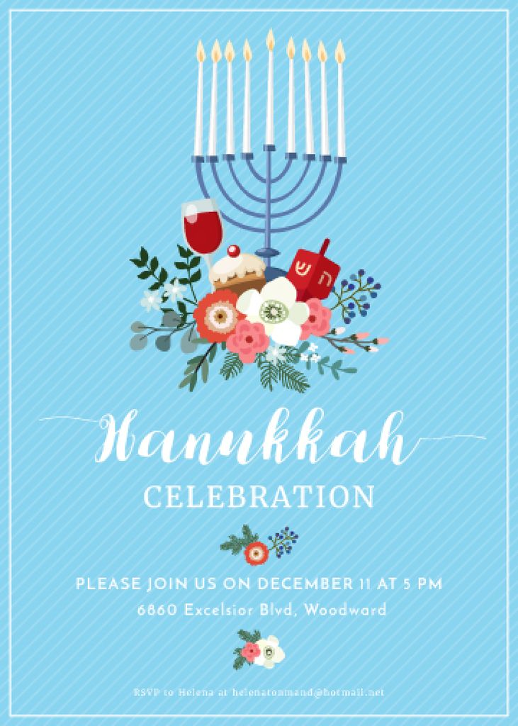 Invitation to Hanukkah celebration  — ein Design erstellen