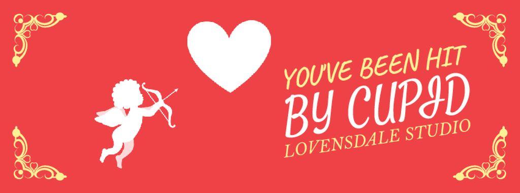 Valentine's Card with Cupid shooting Arrow — Crea un design