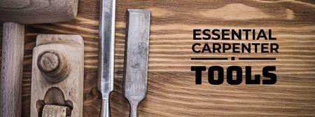 Essential carpenter tools Offer Facebook cover Design Template
