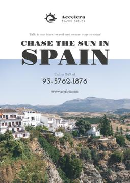 Travel Offer to Spain with mountains landscape