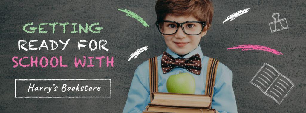 Boy student in classroom — Создать дизайн