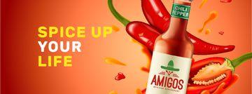 Hot Chili Sauce bottle