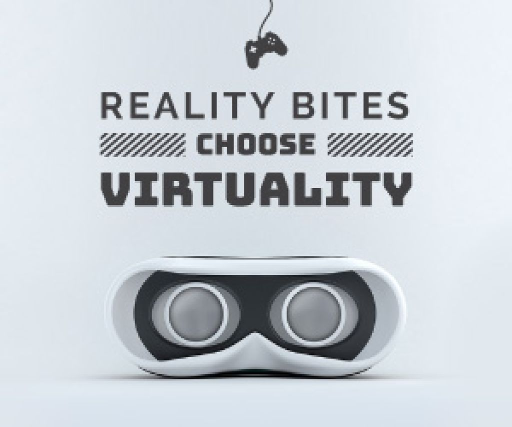 Virtual Reality Glasses in White | Medium Rectangle Template — Створити дизайн