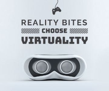 Virtual Reality Glasses in White | Medium Rectangle Template