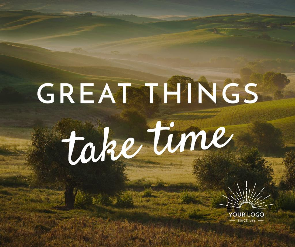 Great things take time poster — Створити дизайн