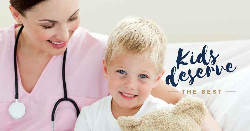 Kids deserve the best medical poster — Создать дизайн