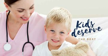 Healthy child with a pediatrician