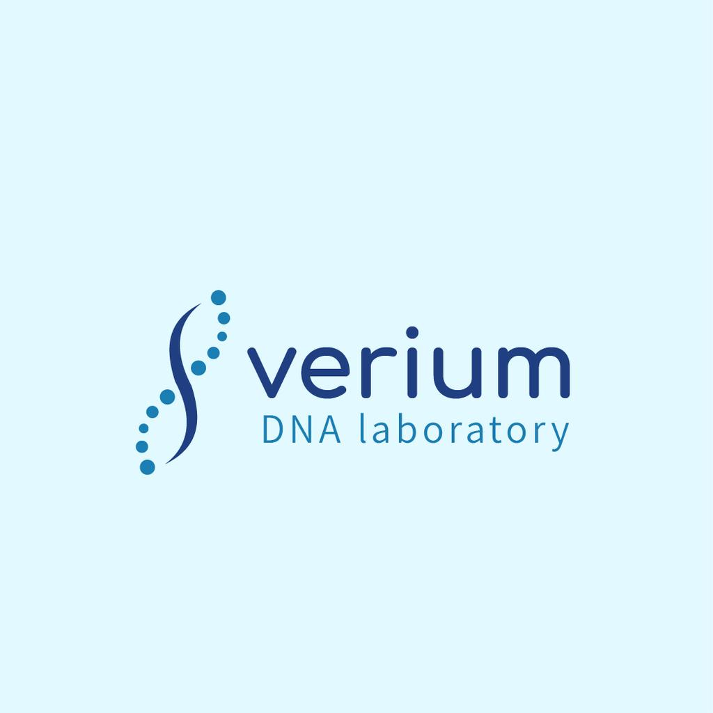 Test Laboratory Ad with DNA Molecule Icon — Crear un diseño