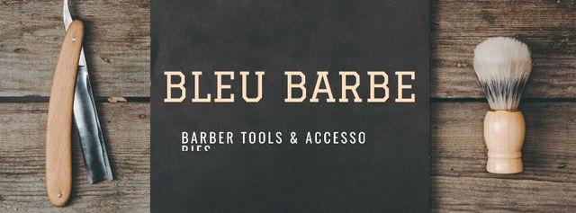Plantilla de diseño de Barbershop Professional Tools Sale Facebook cover