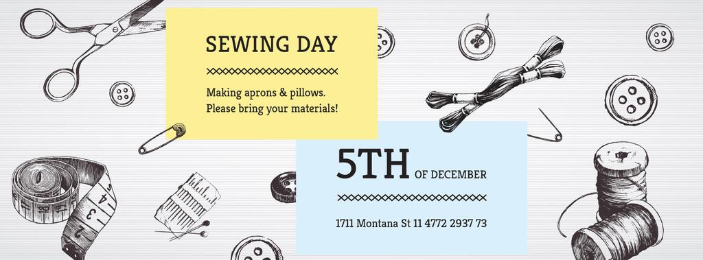 Sewing day event Annoucement — Modelo de projeto
