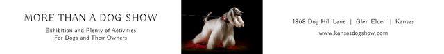 Ontwerpsjabloon van Leaderboard van Dog Show in Kansas